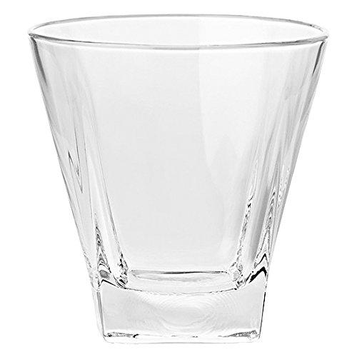 BARSKI europäischen Glas-quadratisch-Double Old Fashioned Tumbler-Einzigartige-Set von 6-12Oz-Made in Europe 12 Double Old Fashioned Gläser