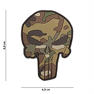 Patch 3D PVC Punisher Multicam / Cosplay / Airsoft / Camouflage