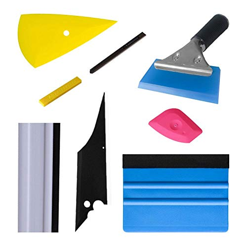 fancyU Fahrzeugglas Schutzfolie Car Wrapping Werkzeuge Gummi Jelly Conqueror Kontur Rakel Cutter Schaber Fenster Tönung Werkzeuge Set 7 PCS