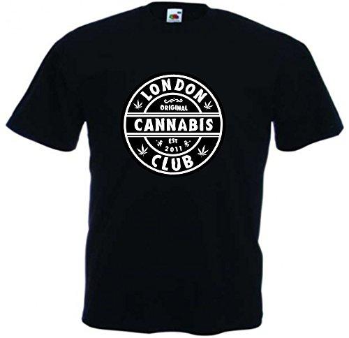 T-Shirt Weed Cannabis Joint Freiheit Spass Fun Rauchen Kiffen Gras Bong Haschisch Motiv 40 viele Farben S M L XL 2XL 3XL 4XL Damen Herren und Kinder 104 bis 152 Schwarz