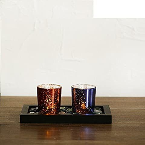 Vetro europeeLEDSupporto di candela elettronica/Bar caffetterie portacandele di fuoco/Di San Valentino nozze candela decorazioni