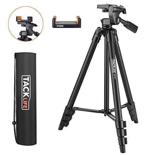treppiede, tacklife mlt01 treppiedi flessibile portatile 360 gradi, treppiedi fotocamera, treppiedi livella laser, treppiede leggero estensibile fino a 1,36 m, supporto telefono