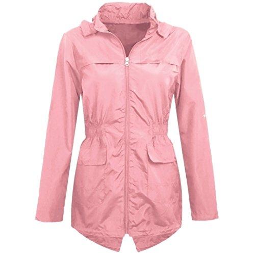 MYSHOESTORE Mädchen Parka Regenjacke Mehrfarbig Mehrfarbig Pink / Plain