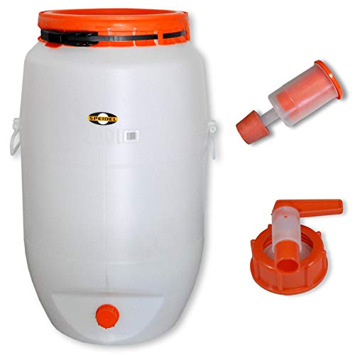Barrel for fermentation SPEIDEL - Fermenter 120 L round + 1 airlock + 1 tap (22150+137+139) by Speidel