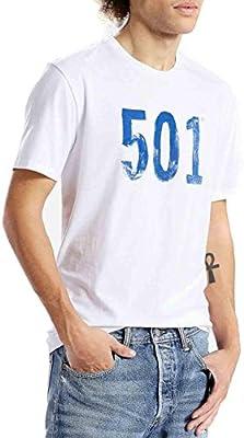 Camiseta Levis – Graphic Setin Neck 501 Paint blanco