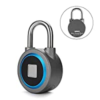 Fingerprint Padlock, Bluetooth Connection Metal Waterproof