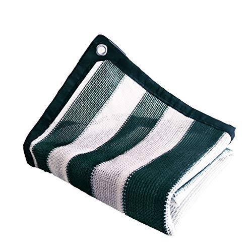 LAOSUNJIA Filet d'ombrage épaississant extérieur pour Parasol en polyéthylène Haute densité (Couleur : Green White, Taille : 6M*7M)