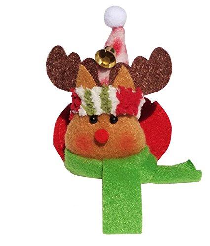 esser Abendessen Besteck Dekoration Halter, Santa Claus Stoff, Elch, Schneemann Style Geschirr Staubbeutel Cover Set (6Stück). 6pcs-Snwman-Cup Mat ()