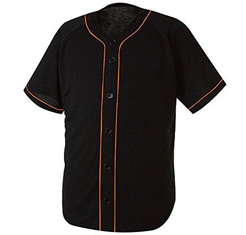myglory77mall Camiseta del béisbol para Hombre Pequeño (l Etiqueta de Asia) Negro/Naranja línea