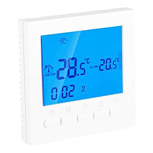 FTVOGUE Digital weiß LED WiFi elektrische Heizung Thermostat Taste Version Raumthermostat Fußbodenheizung Wandheizung