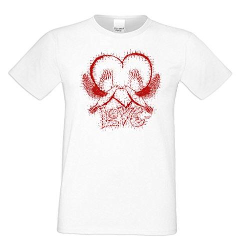 Geburtstagsgeschenk für Ihren Liebsten T-Shirt Geschenkidee Geburtstag Love Vatertag Übergröße Liebe Herren Farbe: weiss Weiß
