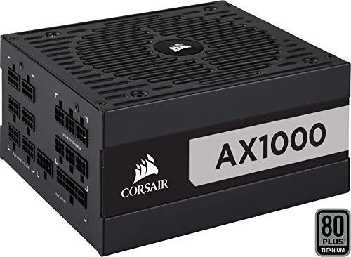 Corsair ax series ax1000 alimentatore atx completamente modulare, 80 plus titanium, 1000 w, nero (eu)