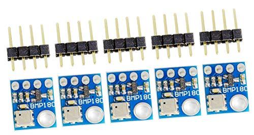 MissBirdler 5Stück Luftdruck und Temperatur I2C Modul BMP180 GY-68 f. Arduino Raspberry PI Multiwii