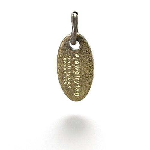 Custom Jewelry Tags, Laser Gravur für jeden Marke Leerzeichen, Gold, Silber und multi-metallic Farbe Finish, bieten selbstbeteiligung Trial severice, antique bronze, Sample Physical Trial, 3PCS Shipped - Antique Bronze Gold Finish