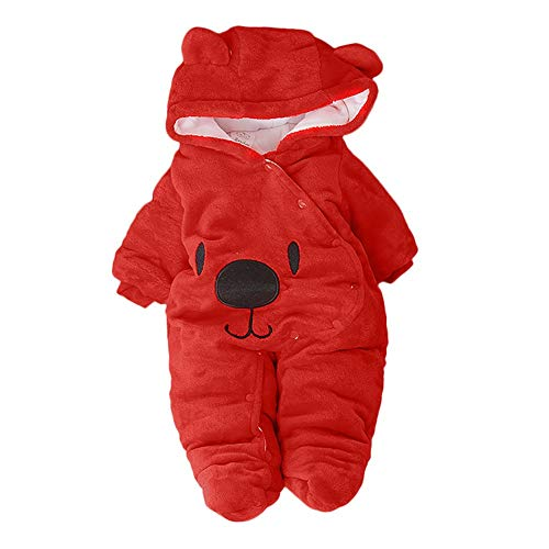 Ropa bebé Invierno Mameluco 3-12 Meses,Mameluco Abrigo de Niño Niña Otoño/Invierno Animal...