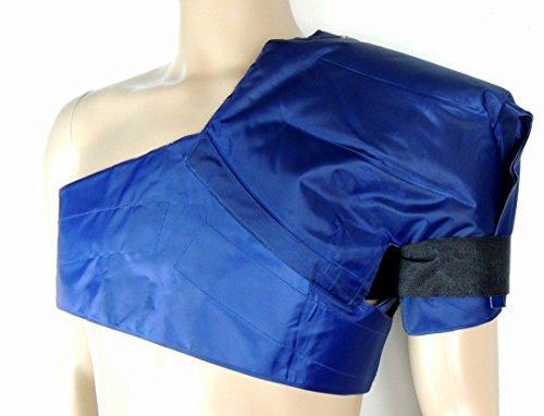 Kalt-Warm-Schulter-Wickel/-Kompresse - Hohe Gel-Menge für Höchste Wirksamkeit - Komfortable Auslaufsichere Nylon-Hülle (Eis-blau-leder)