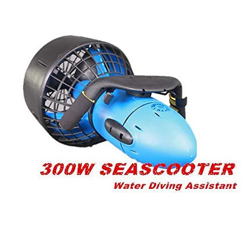 AMGJK Unterwasserscooter Sea Scooter Seascooter 300 Watt w/Dual Speed Propeller Seeroller Tauchscooter in der Wasser, Wasser Sport Schnorcheln Ausrüstung für ca. Stunde Laufzeit. -