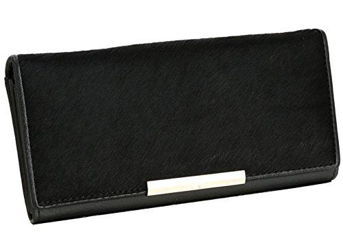 Sezione In Pelle Ms. Lungo Frizione Ad Alta Capacità Black