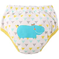 [Hippo] bebé pantalones del entrenamiento del tocador del pañal de la ropa interior del pañal del paño 13.2-19.8Lbs