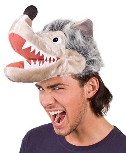 Kostüm Mütze Wolf Zubehör Karneval Märchen (Wolf Kostüm Hut)