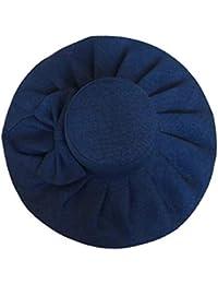 Cappello da Spiaggia per Cappello Estivo da Donna in Cotone a Tesa Larga di  Cotone Moda 9dd4856e4a2a