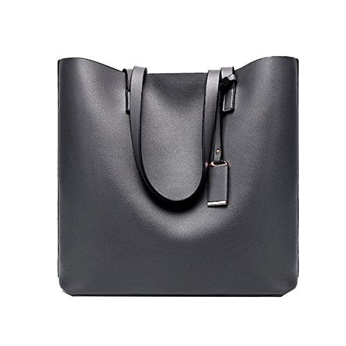Yy.f Neue Handtasche Große Tasche Feste Farbe Damen Schultertasche Damen Designer Schultertaschen Handtaschen Damen Brieftaschen Black