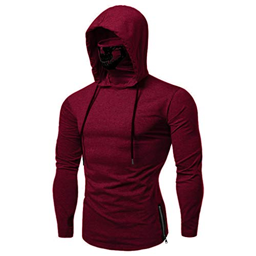 SANFASHION Herren Herren SANFASHION Männer Sweatshirt Langarm Herbst Winter Kapuzenpullover | Sale | Casual Sweatshirt Hoodies Top Bluse Trainingsanzüge (Nra-t-shirts Für Männer)