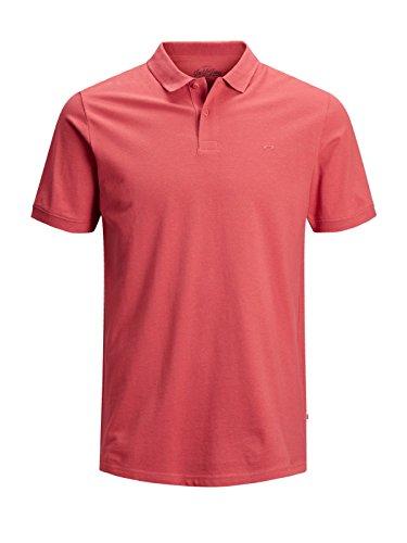 JACK & JONES Herren JJEBASIC Polo SS NOOS Poloshirt, Rot (Baked Apple Detail: Slim Fit), XX-Large