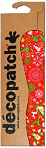 Decopatch - Carta da découpage in fogli da 395 x 298 mm, motivo: alberi di Natale e pupazzi di neve, confezione da 3, colore: Bianco/Rosso/Verde