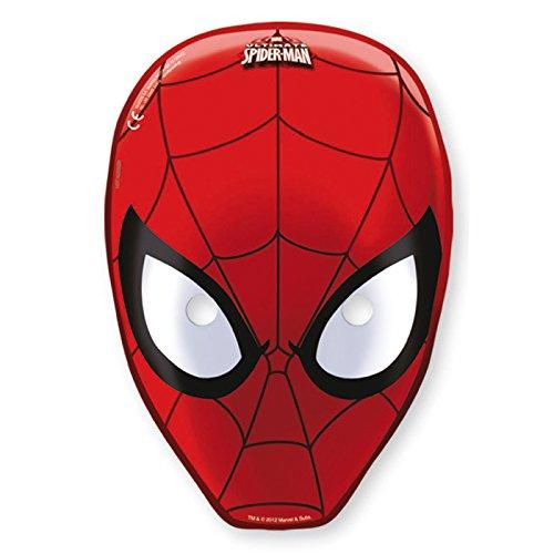 Ciao Procos 81535–Masken Papier Ultimate Spider Man, 6Stück, -