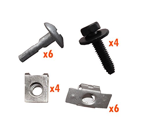 myshopx C116 Set Métal Fixation unterfahr Protection unterboden Protection du moteur Clips pince Vis fixation Kit de montage pression rivets schlagniete Rivet en plastique Clips unterfahr Protection Clips de fixation pinces clips de fixation