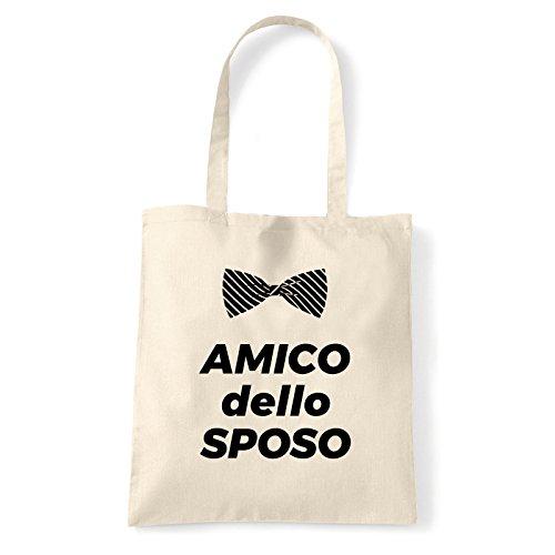 Art T-shirt, Borsa Shoulder Amico dello Sposo, Shopper, Mare Natural