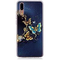 Shinyzone Bunt Hülle für Huawei P20,Kreativ Gold Schmetterling Muster Ultra Weich TPU Dauerhaft Schutzhülle für... preisvergleich bei billige-tabletten.eu