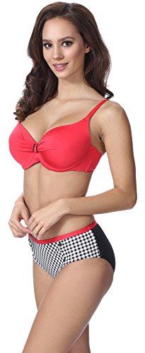 Merry Style Damen Figurformender Push Up Bikini F10A Muster-201