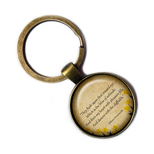 Bronze Narzisse (William Wordsworth Daffodil Poem Narzissen Gedicht Keychain Bronze Schlüsselanhänger)
