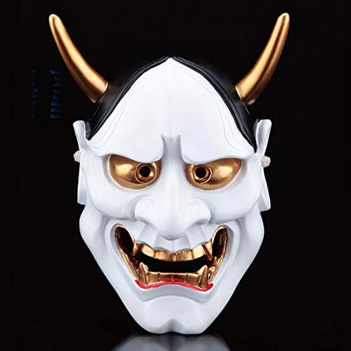 BUG-LPH Resin Realistische Halloween Scary Face Requisiten Hannya Copper Ghost Mask Cosplay Requisiten Halloween Party Maske