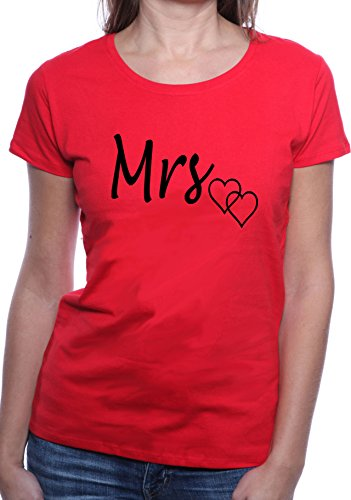 Mister Merchandise Ladies Damen Frauen T-Shirt Mrs. Ehefrau Tee Mädchen bedruckt Rot