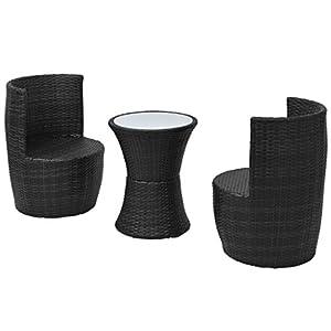 41Ar4wCm16L. SS300  - LD 5-Piece Garden Furniture Chairs Set Poly Rattan
