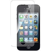 Funnytech_ - Cristal templado para Iphone 4 / 4S. Protector de pantalla transparente para Iphone 4 / 4S. Vidrio templado antigolpes (Grosor 0,3mm) – Kit de instalación incluido