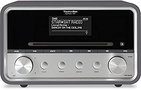 TechniSat DIGITRADIO 580 - Stereo Digitalradio mit CD-Player (DAB+, UKW, Internetradio, Multiroom-Streaming, Bluetooth, Steuerung per App, USB, 2 x 10 Watt) anthrazit