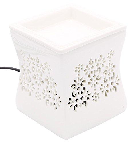 Candle-lite - Elektrische Duftlampe mit Licht, Nata, Weiß, 10 x 10 x 12 cm -