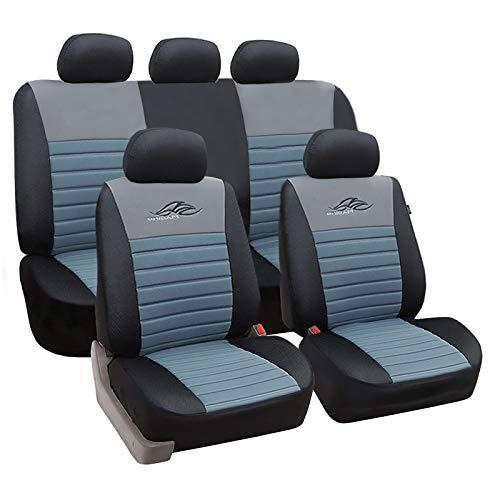 tzbezüge für Auto Schonbezug Schoner Komplettset schwarz/grau SCSC0118 ()