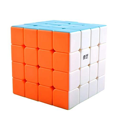 Maomaoyu Zauberwürfel 4x4 4x4x4 Original Speed Cube Stickerless Magic Cube Puzzle Magischer Würfel PVC Aufkleber für Schneller und Präziser mit Lebendigen Farben -