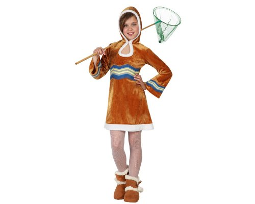 ATOSA 23589 - Eskimo Mädchen Kostüm, Größe 140, braun