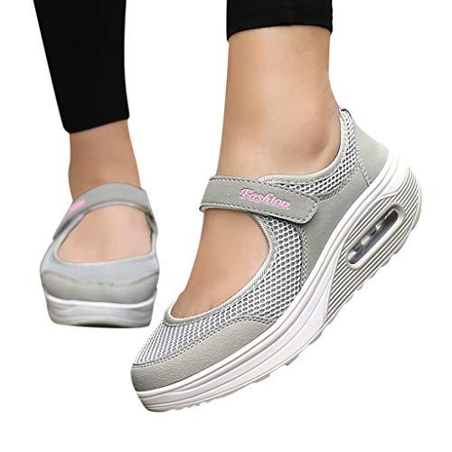 LILIHOT Frauen leichte atmungsaktive Mesh-Schuhe erhöht Freizeitschuhe Outdoor Casual Sportschuhe Dickes Ende Erwachsene Straße Laufen bequem ultraleichte Mode Luftpolster Schuhe (Billige Schuhe Für Jungen-größe 4)