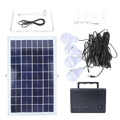 18 V 12 Watt Solar Panel, LM-3606 4 Stücke 12 V High Low Level Birne Doppel DC Stecker Multifunktions Solarladesystem Energiespeicher Generator System Eu-stecker 110~240 V -