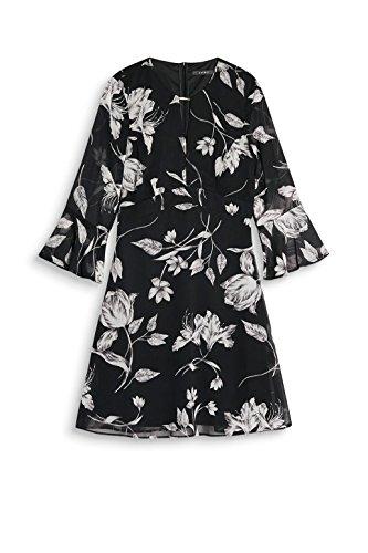 ESPRIT Collection Damen Kleid Mehrfarbig (Black 2 002)
