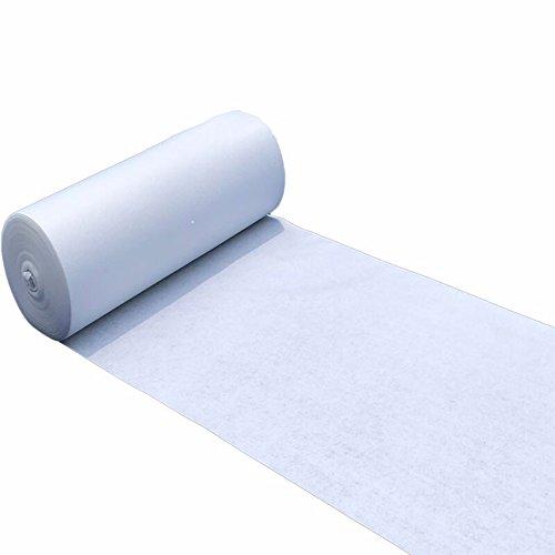 YONG FEI Teppich Hochzeit Teppich weiße Teppichrolle Einweg-Rutschfeste Vlies gewebte verschleißfeste T-Bühne Ausstellung, Dicke 2 mm Hochzeitsteppich (Farbe : Weiß, größe : 1.2m x 10m)