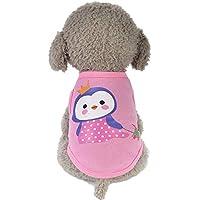 Ropa de algodón para Mascotas Ropa de Perro a Prueba de cálido Chaleco para Mascotas Chaqueta de Invierno Estampado Animal para Perros pequeños Gusspower