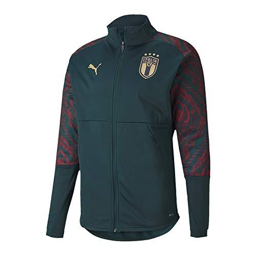 PUMA Herren FIGC Stadium Third Jacket Trainingsjacke, Ponderosa Pine/Cordovan, L